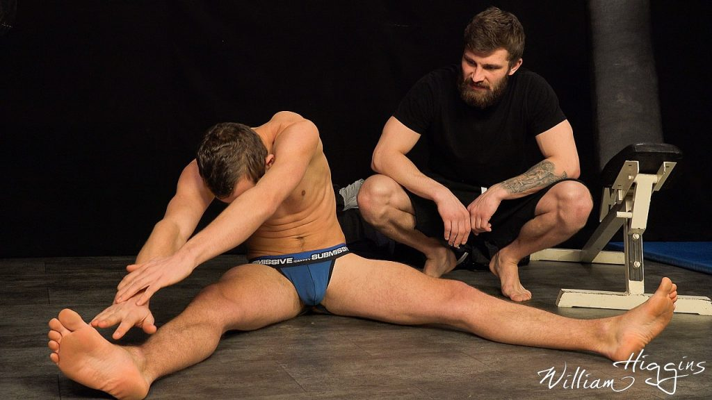 two Czech MMA fighters in their pants