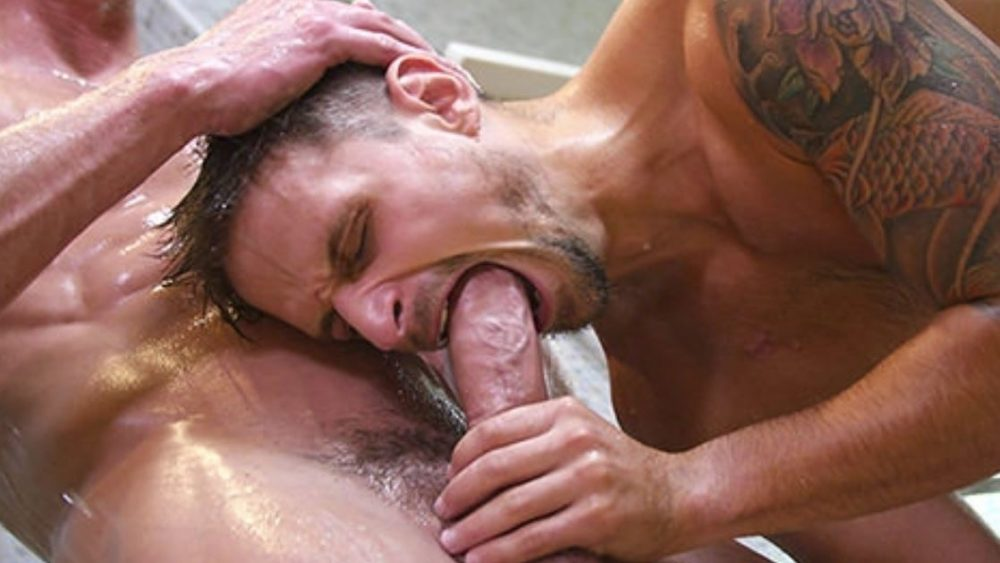 GayRoom 4K blowjob sperm swallow video